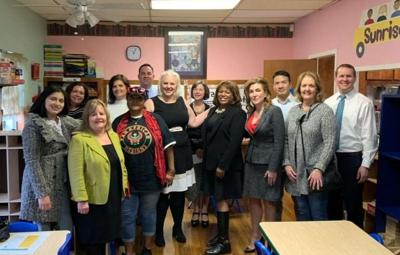Educational First Steps Advisory Board tour of Sunrise Early Learning and Development Center